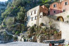 Fishermen village of Furore, Amalfi Coast, Italy, Europe Royalty Free Stock Image