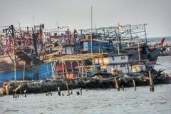 Fishermen village Jakarta. Muara Angke fishermen village in North Jakarta Stock Photos