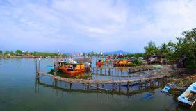 Fishermen village, Kuantan, Malaysia. This a fishermen village located atTanjung Api, Kuantan, Malaysia Royalty Free Stock Photography