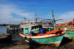 Fishermen village at phuket Thailand Stock Photo