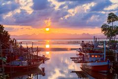 Fishermen village in Thailand its authentic local place with old traditions. Chumphon Thailand - March 18, 2018 : Fishermen village in Thailand its authentic Stock Images
