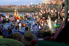 Fishermen and Virgen del Carmen 4 Royalty Free Stock Photo
