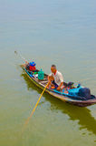 Fishermen who fishing in the morning. Stock Photography