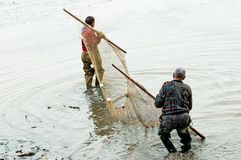 Fishermen during work Royalty Free Stock Image