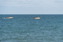 Fishermen on work Stock Photo