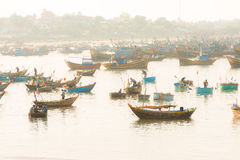 Fishermen work Stock Images