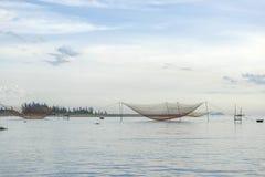 Fishermen's nets at Cua Dai near Hoi An, Vietnam Stock Photo