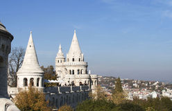 Fishermens Bastion on Castle Hill, Budapest. Stock Photos