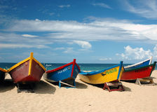 Fishermens Boats. At a local beach that I visit a lot Royalty Free Stock Image