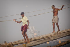 Fishermens in Cochin Stock Images