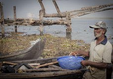 Fishermens in Cochin Royalty Free Stock Image