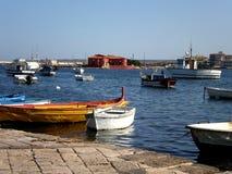 Fishermens Stadt in Sizilien Stockfotografie