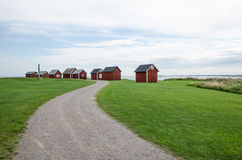 Fishermens traditional cabins Royalty Free Stock Photos