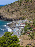 Fishermens village in Amed, Bali Royalty Free Stock Photo