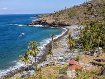 Fishermens village in Amed, Bali Stock Images