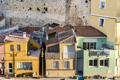 Fishermens village  Vallons des Auffes in Marseille Royalty Free Stock Image