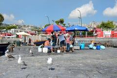 Fisherrmen de Nápoles Fotografía de archivo