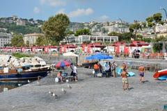 Fisherrmen de Nápoles Imagenes de archivo