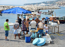 Fisherrmen de Nápoles Foto de archivo libre de regalías