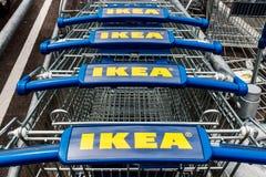 Fishers - около апрель 2018: Магазин хозяйственных товаров IKEA Основанный в Швеции, IKEA розничный торговец мебели ` s мира самы Стоковая Фотография