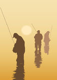 Fishers. Illustration about fishing royalty free illustration