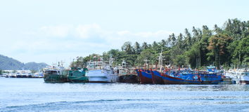 Fishers boats in Bitung Stock Images