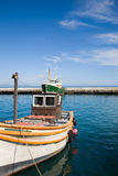 Fishers Boats in kalkbay harbour near Cape Town Stock Photos