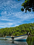 Fisher´s canoe Royalty Free Stock Photo