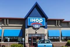 Fishers - cerca do maio de 2017: Casa internacional das panquecas IHOP é uma corrente de restaurante que oferece a uma variedade  Foto de Stock Royalty Free