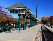 Fishers, Indiana train station. Canopy at Fishers, Indiana train station Royalty Free Stock Image