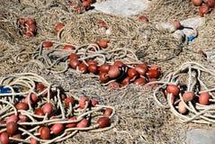 Fishers Netz im Grado-Hafen, Italien Lizenzfreies Stockfoto