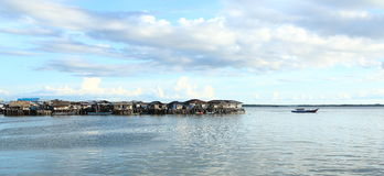 Fishers village. On pillars above sea in Sorong (Papua Barat, Indonesia Stock Photo