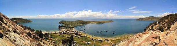 Fishertown Lake Titicaca between Bolivia and Peru Royalty Free Stock Photos