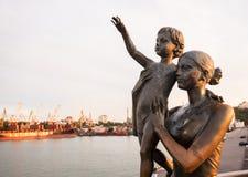 Fisherwoman Соня Символ Одессы Украина Стоковые Изображения