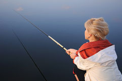 Fisherwoman royalty free stock photo