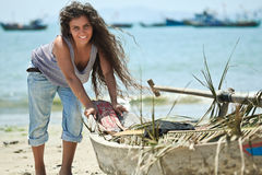 Fisherwoman Stock Photo