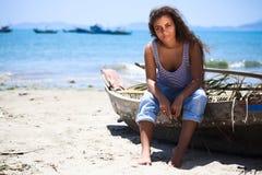Fisherwoman Royalty Free Stock Photos