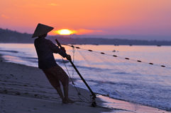 Fisherwoman In Vietnam Royalty Free Stock Photo