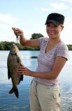 Fisherwoman Arkivbilder