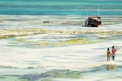 Fisherwomen in Zanzibar stock images