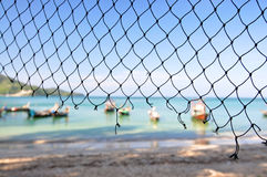 Fishery beach Royalty Free Stock Images
