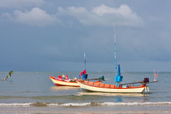 Fishery boat. Two fishery boat on Thai sea image Royalty Free Stock Image
