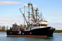 Fishery boat. A salmon fishery boat in Steveston, BC stock photography