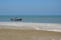 Fishery boat at the beach Stock Photos