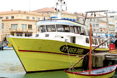 Fishery boat in Le Grau-du-Roi, France Stock Photos