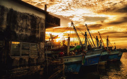 Fishery Boat in Thailand Royalty Free Stock Images