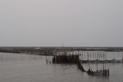 Fishery of coast natural background Royalty Free Stock Images