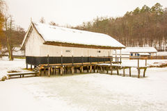 Fishery On A Frozen Lake Royalty Free Stock Photography