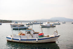Fishery harbor with boats Stock Images