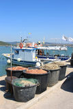 Fishery in the harbour of Talamone, Italy Stock Image